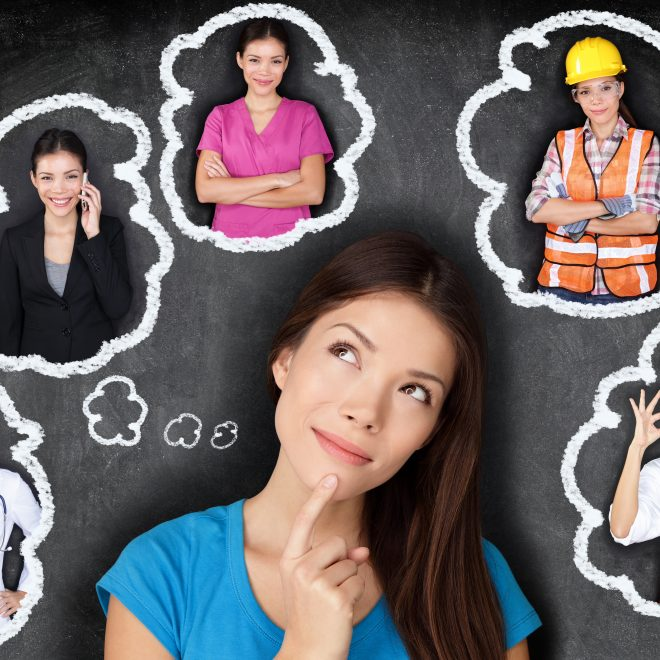 Career choice options - student thinking of future
