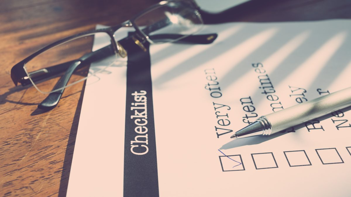This years checklist for leaders